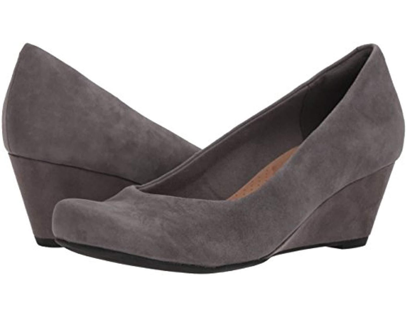 39ee904ae12ed Clarks Flores Tulip Wedge Pump in Gray - Save 50% - Lyst