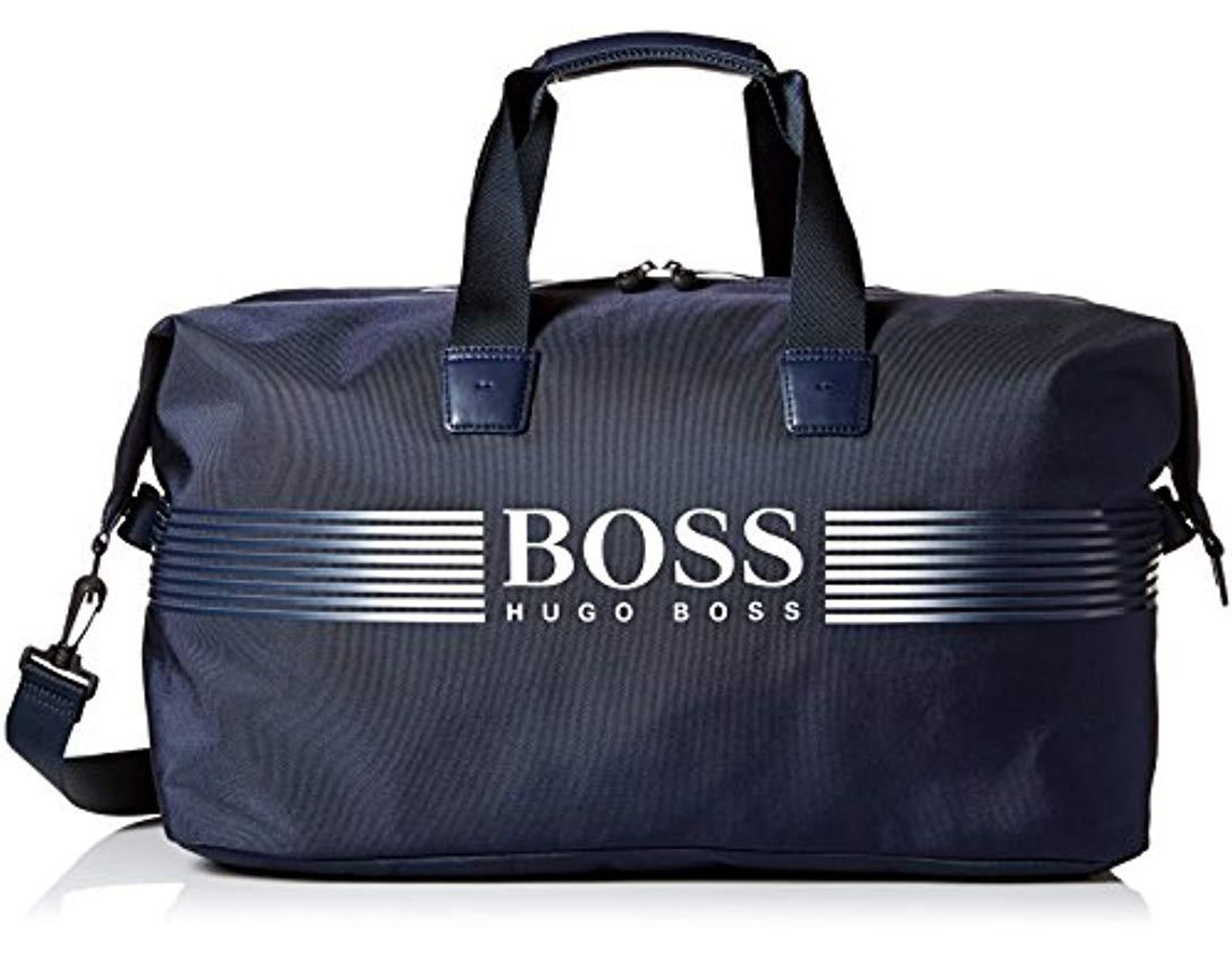 d514d8a5ba3 BOSS Boss Green Pixel Nylon Holdall Weekender Bag in Blue for Men - Save  11% - Lyst