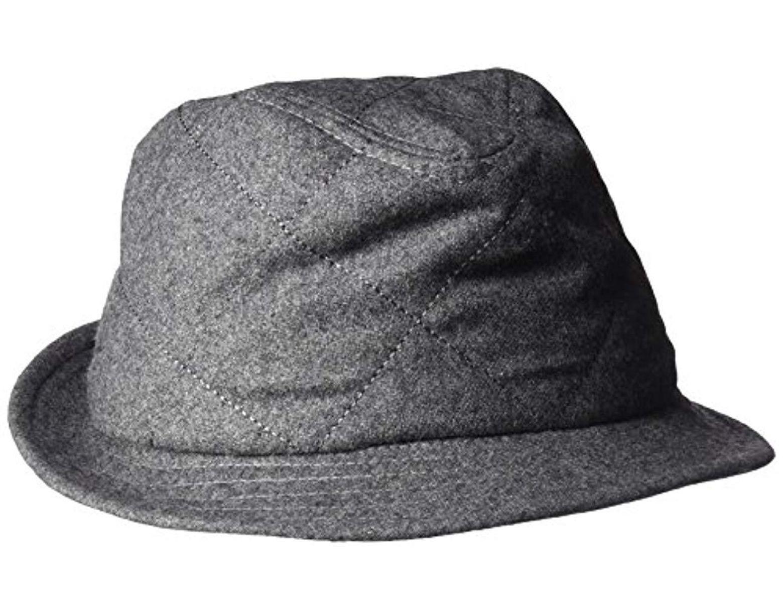 ad16b03a7 Men's Gray Huck Knit Fedora Hat