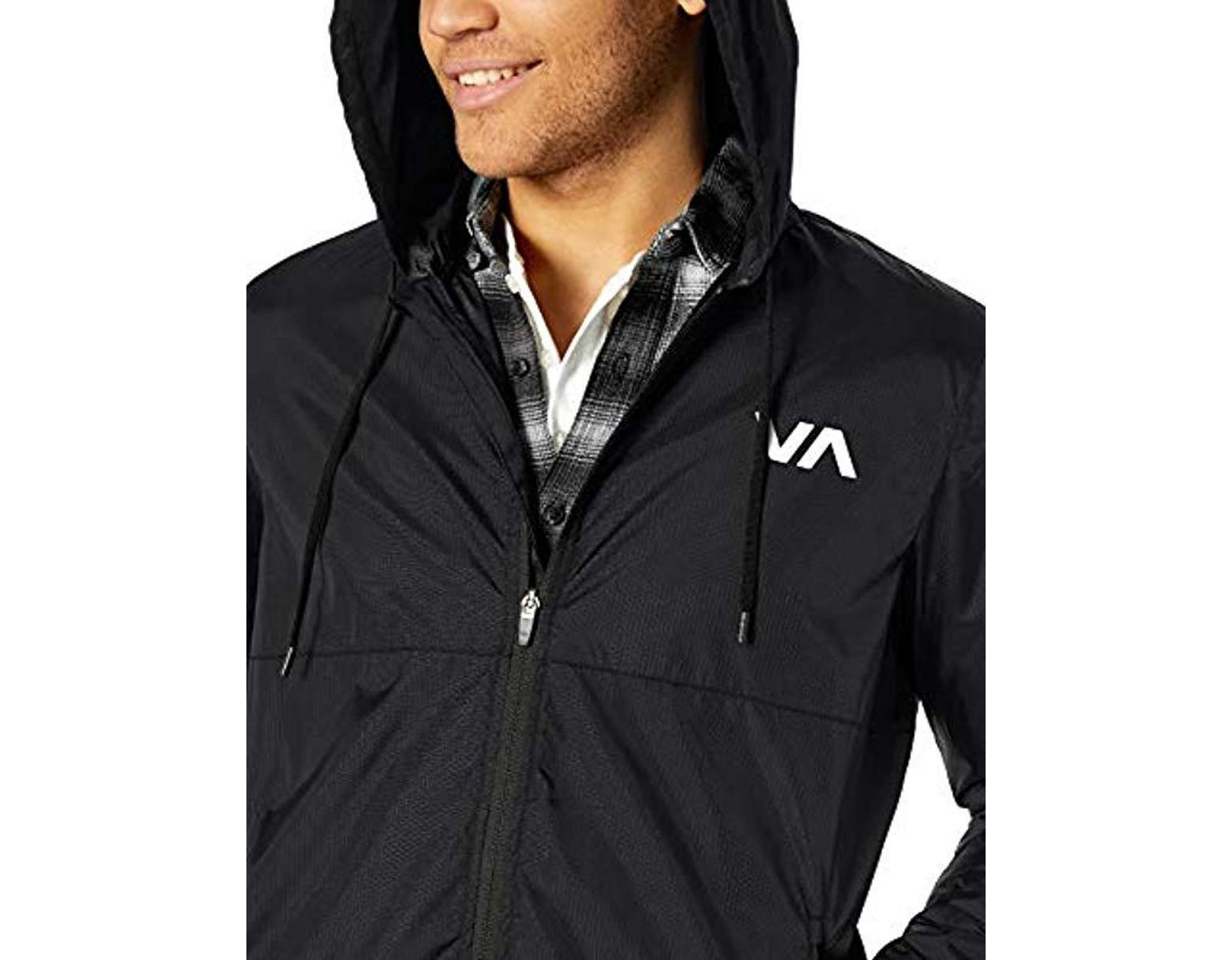 cde315085 RVCA Hexstop Iv Windbreaker Jacket in Black for Men - Save 6% - Lyst