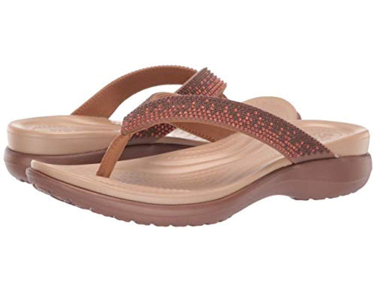 7e268a5cb Crocs™ Capri V Diamante Flip Flop - Save 5% - Lyst