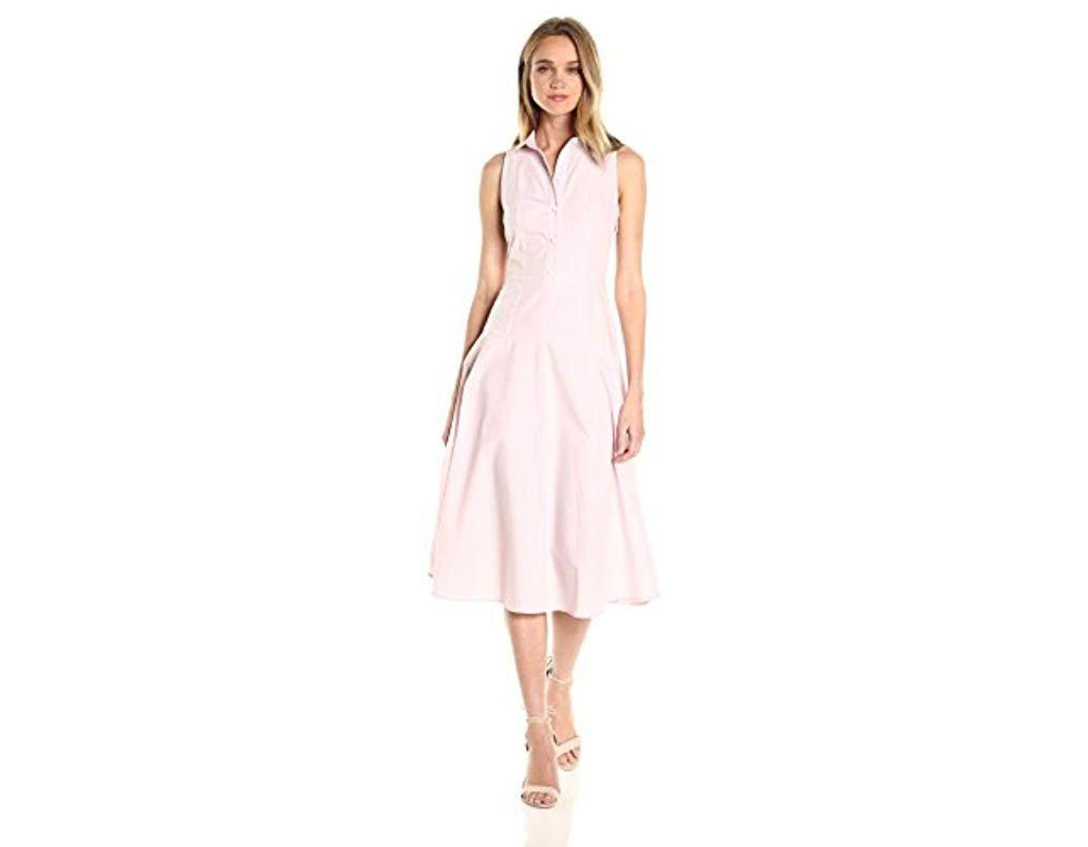 0ff3cbfe Women's Pink | Collred Button Up Sleeveless Midi Dress