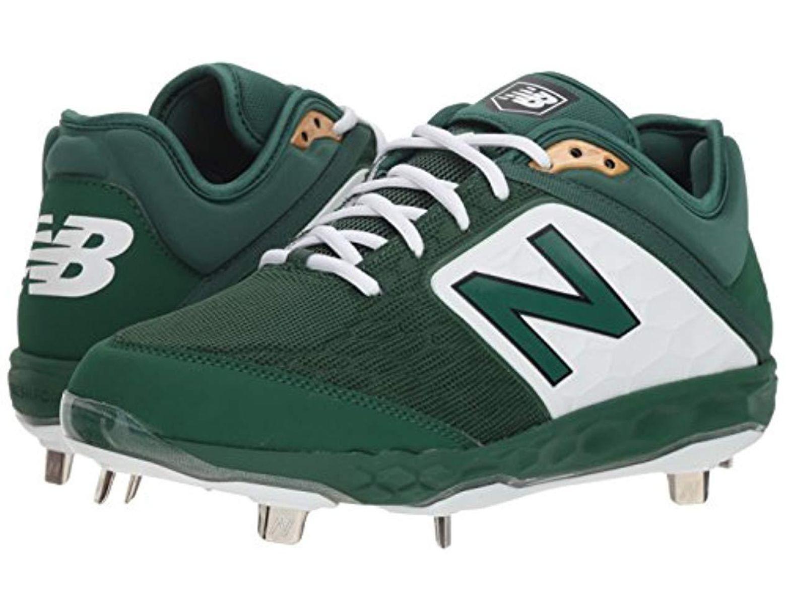 4e0248e0 Men's Green 3000v4 Metal Baseball Shoe