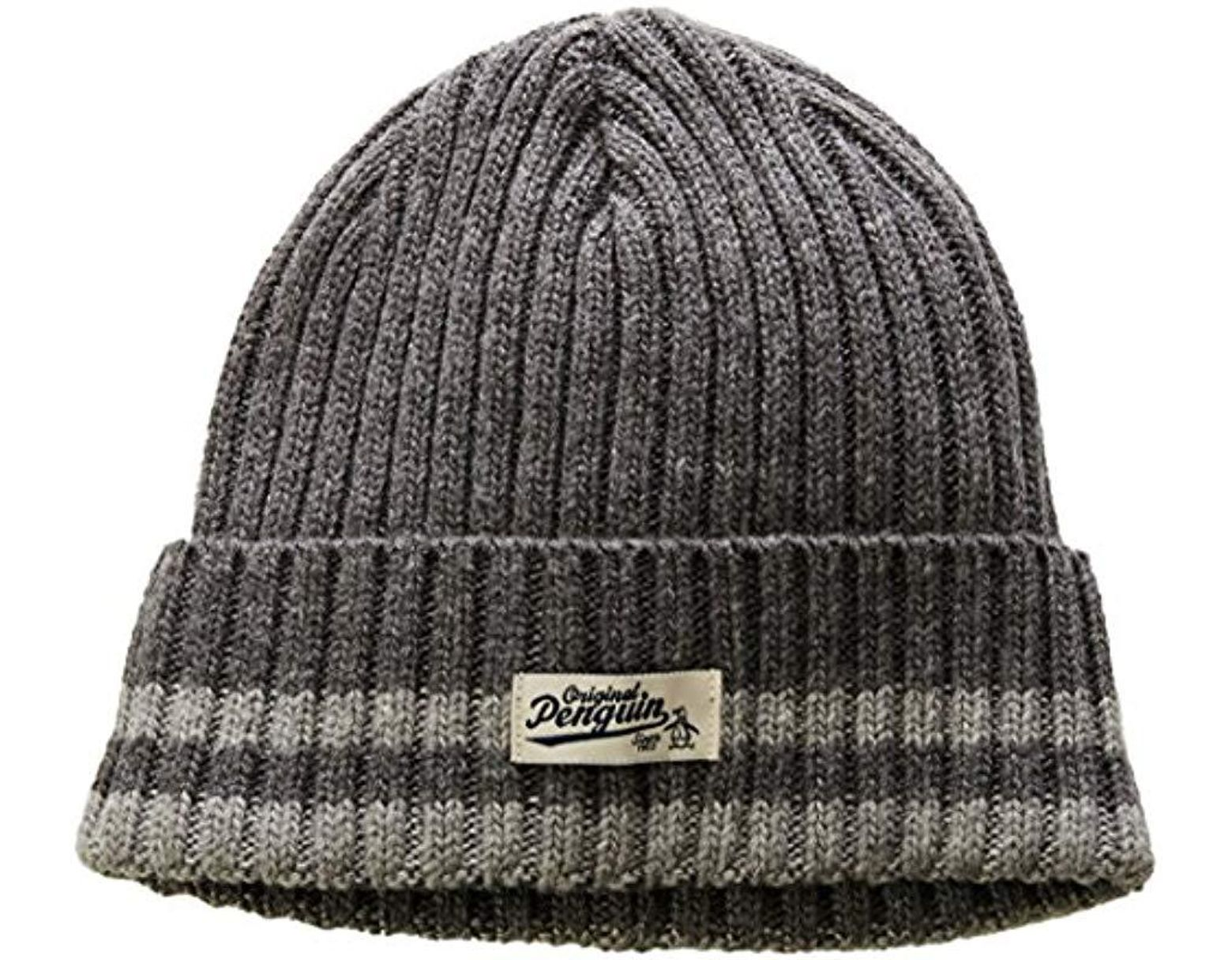 best sneakers f9402 665bc Original Penguin Chunky Knit Watchcap in Gray for Men - Save 3% - Lyst
