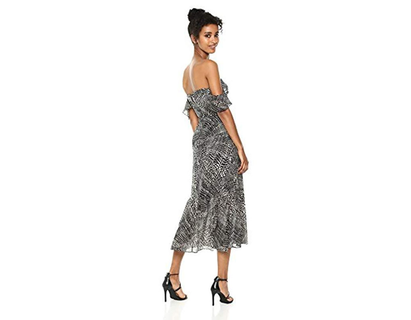 22ce26fabe6cc BCBGMAXAZRIA Sahara Sands Off-the-shoulder Maxi Dress in Gray - Lyst