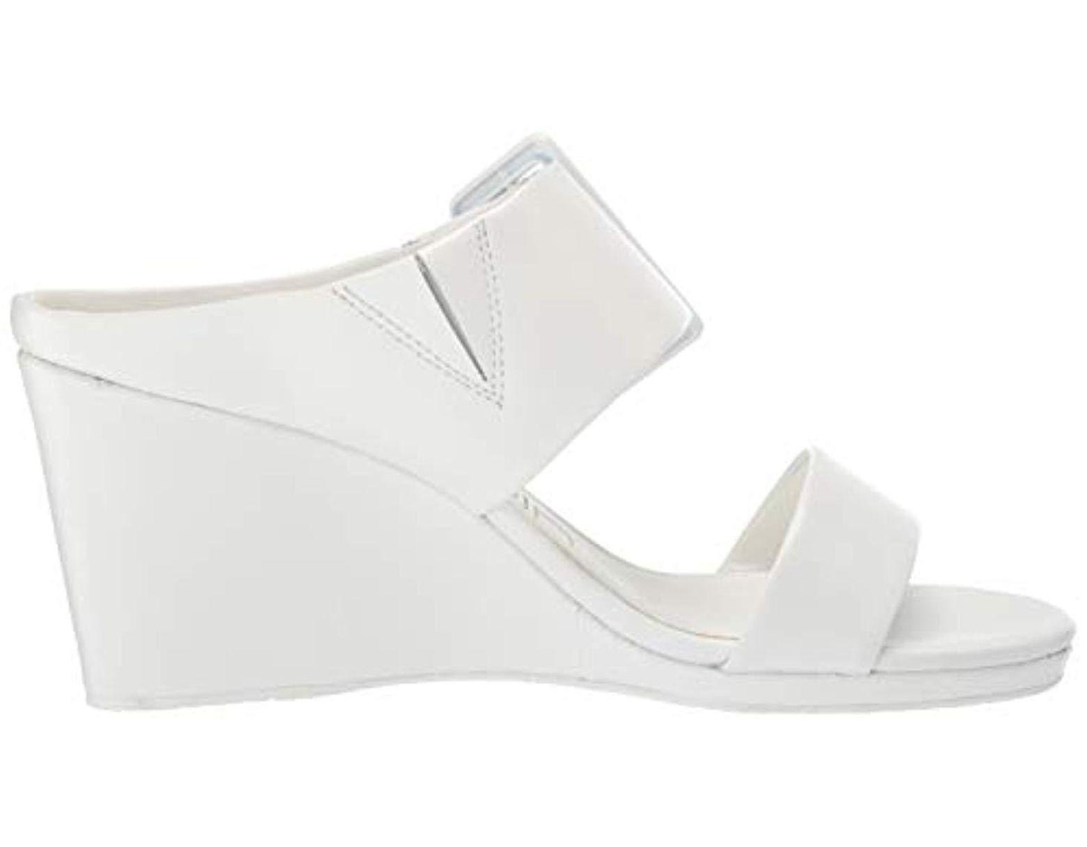 Women's Brinlee White Wedge Sandal Women's FcJK3Tl1