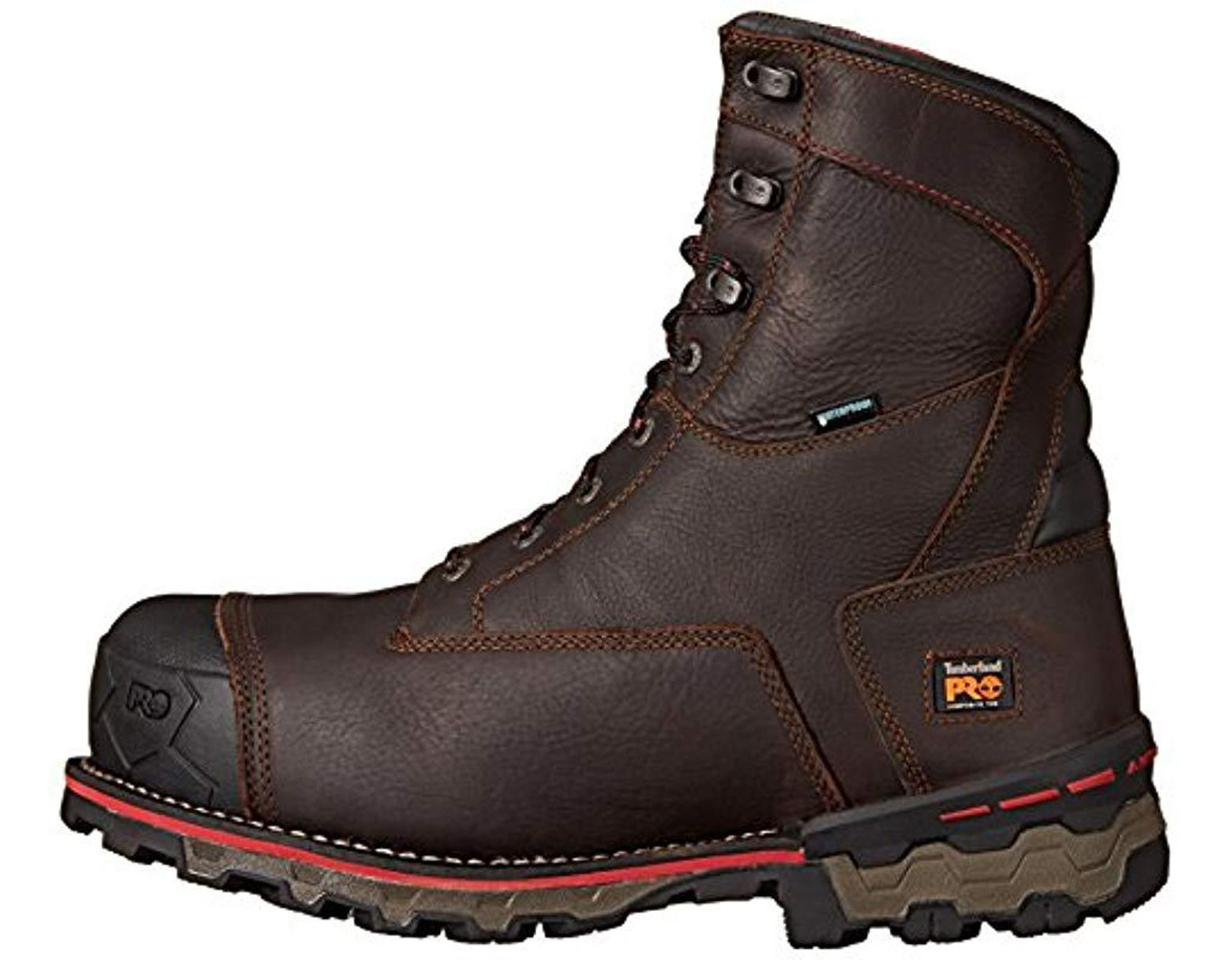 2cd87ade972 Men's Brown 8 Boondock 1000g Composite Safety Toe Waterproof Insulated