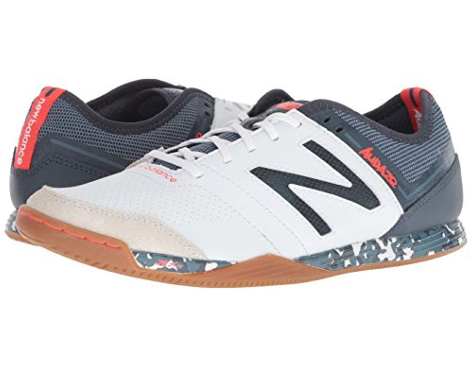 4558bfafe05e9 New Balance Audazo V3 Soccer Shoe in White for Men - Lyst