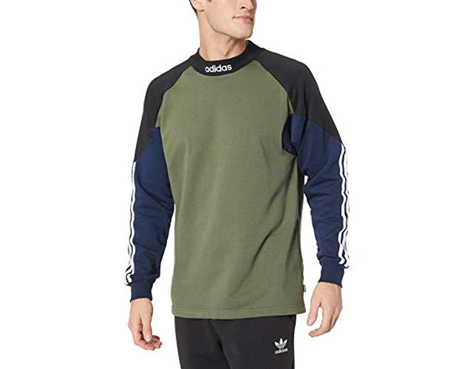 72205bf6f21da adidas Originals Skateboarding Long Sleeve Goalie Fleece in Green for Men -  Lyst
