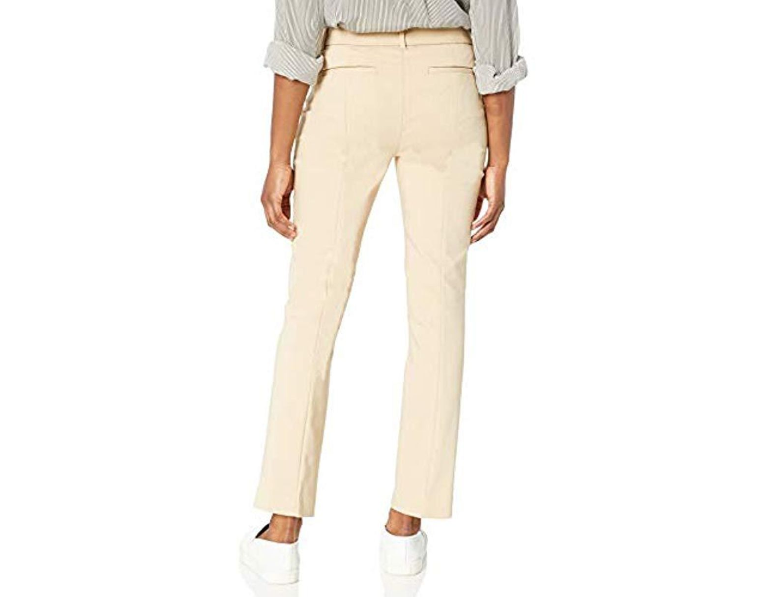 6d9eb447d Rafaella Petite Satin Twill Dress Pant in Natural - Lyst