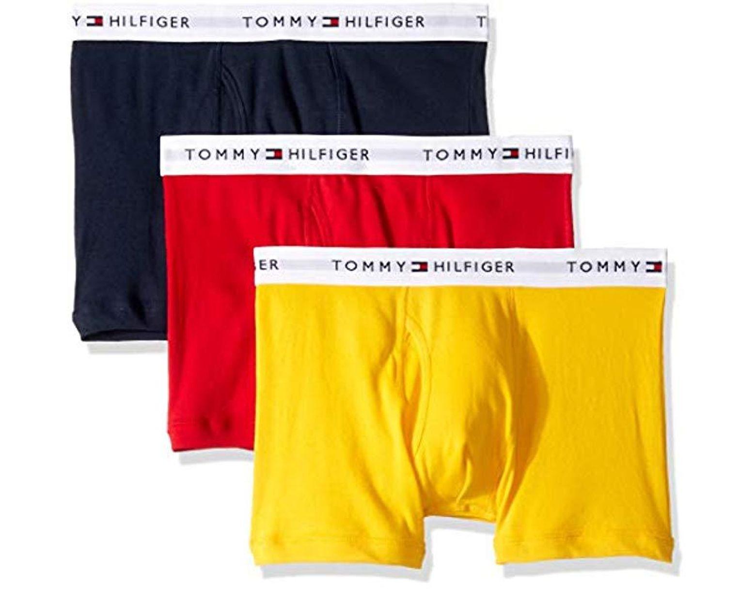 b009bb6eb105 Tommy Hilfiger Underwear 3 Pack Cotton Classics Trunks for Men - Lyst
