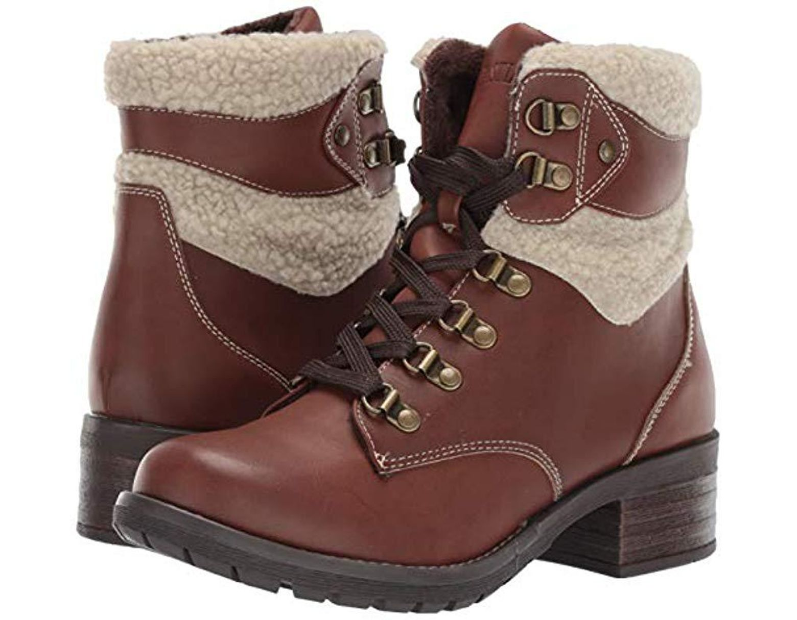 0366f78022061e Eastland Frankie Combat Boot in Brown - Save 72% - Lyst