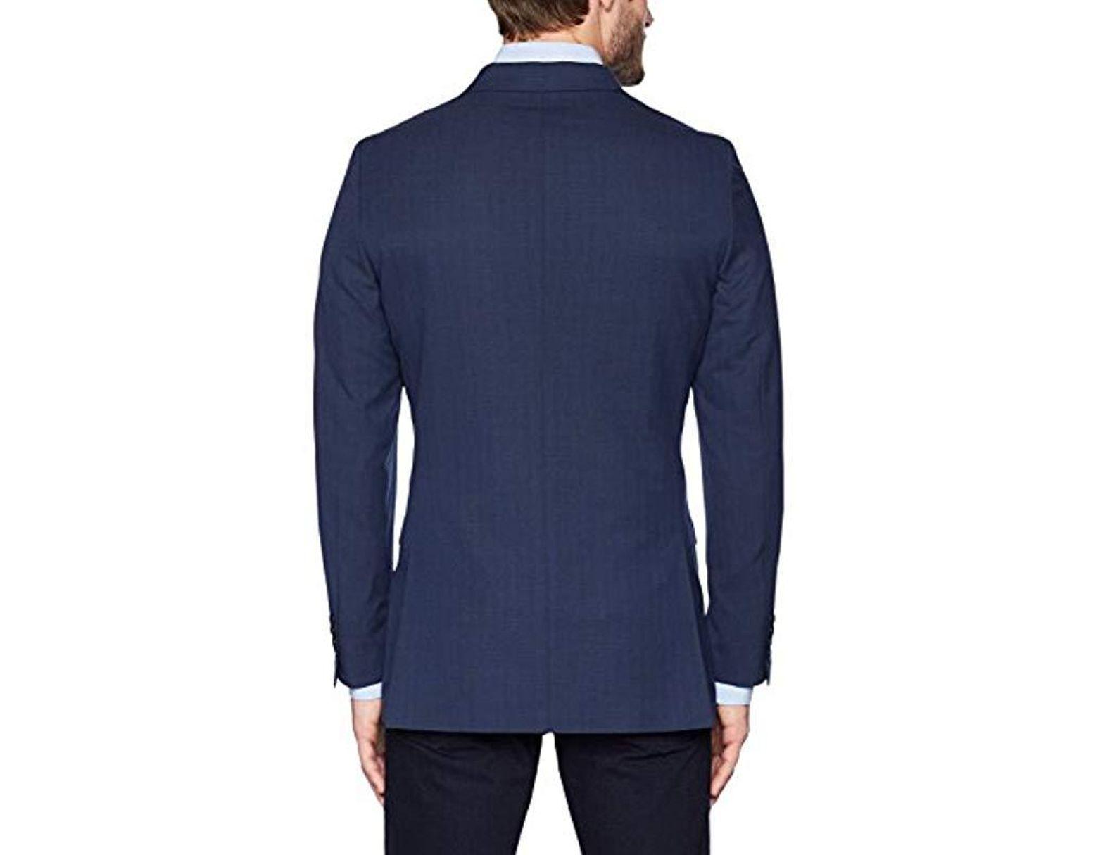d20f56c601928 Men's Blue Stretch Slim Fit Suit Separate (blazer And Pant)