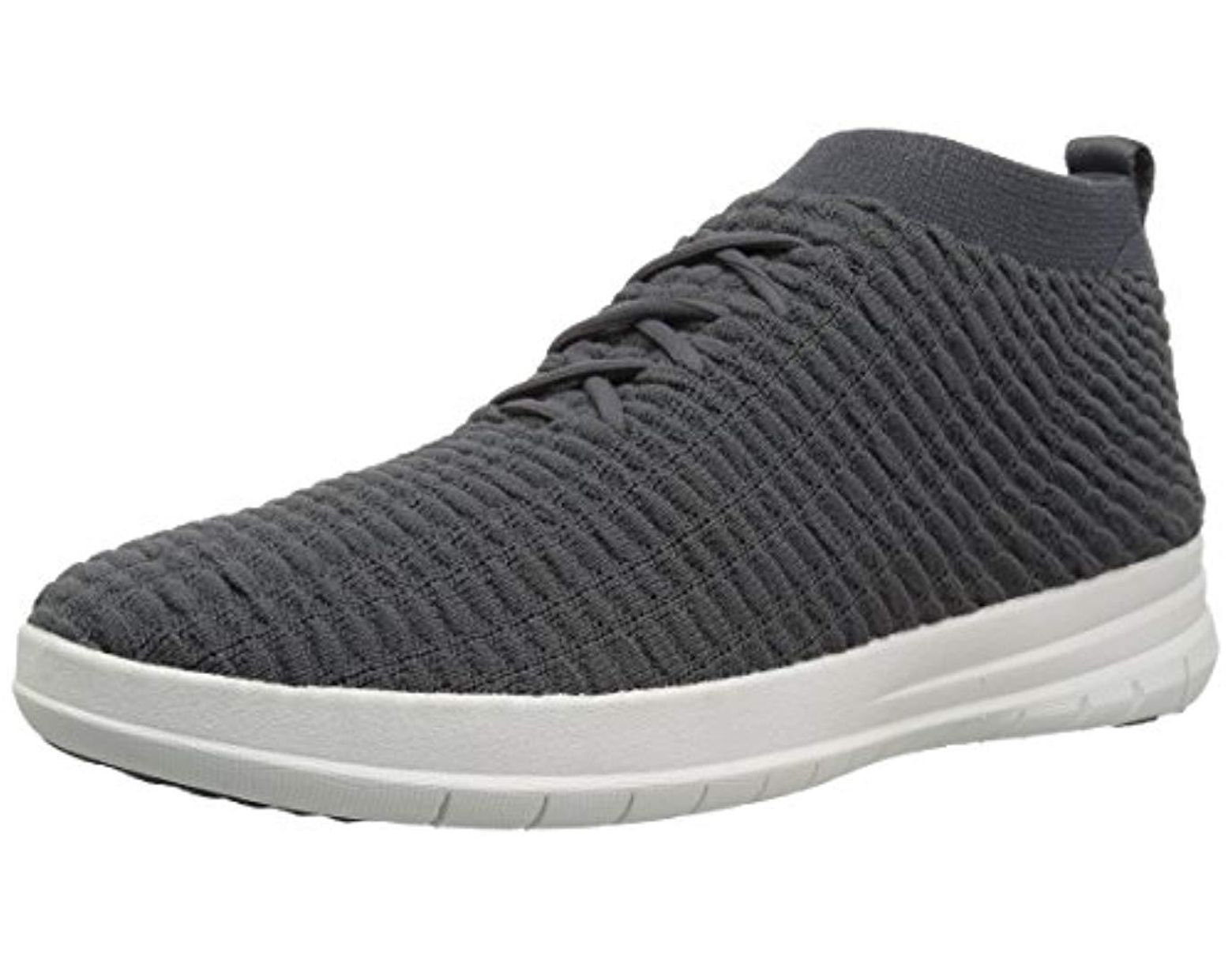e235d97a7619d Fitflop Uberknit Slip-on High Top Sneaker In Waffle Knit in Gray for Men -  Save 11% - Lyst