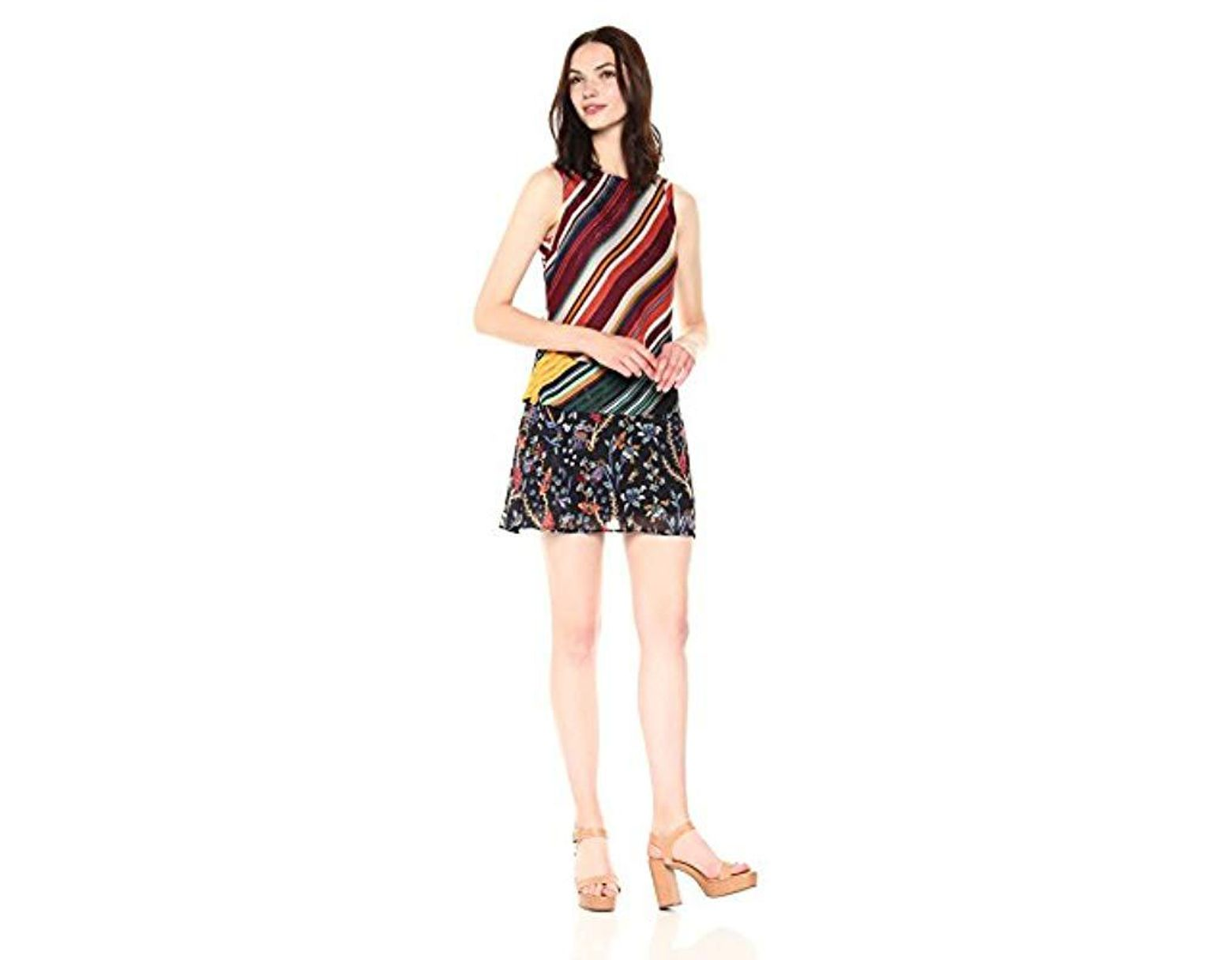 a996727748 Desigual Naticos Woman Woven Strapless Dress - Save 22% - Lyst