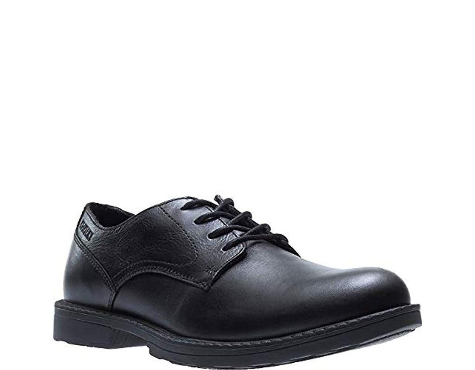 a8fa6d96b70 Wolverine Black Bedford Steel-toe Oxford Sr Industrial Shoe for men