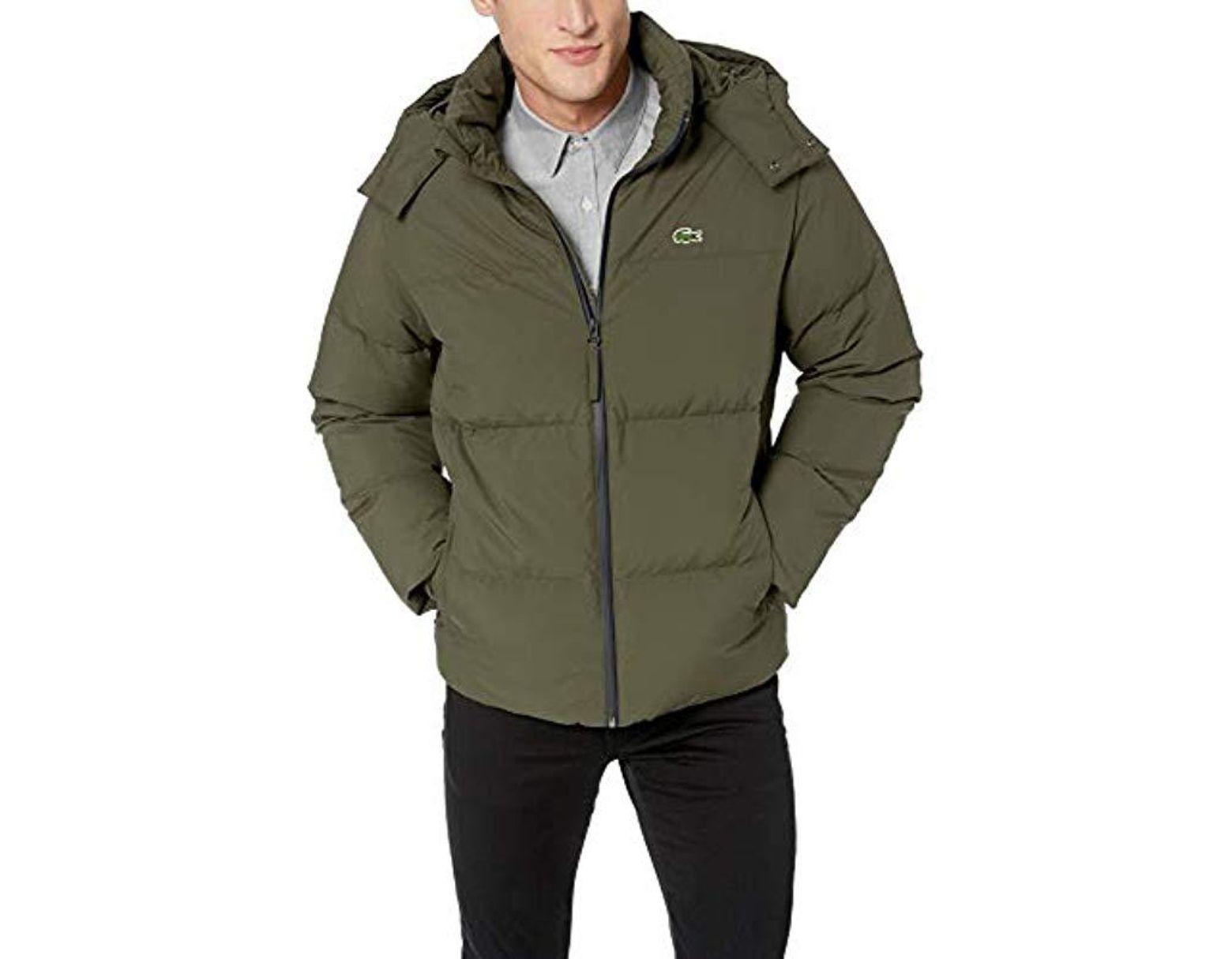 8431d733c74 Men's Green Water-resistant Taffeta Jackets With Detachable Hood
