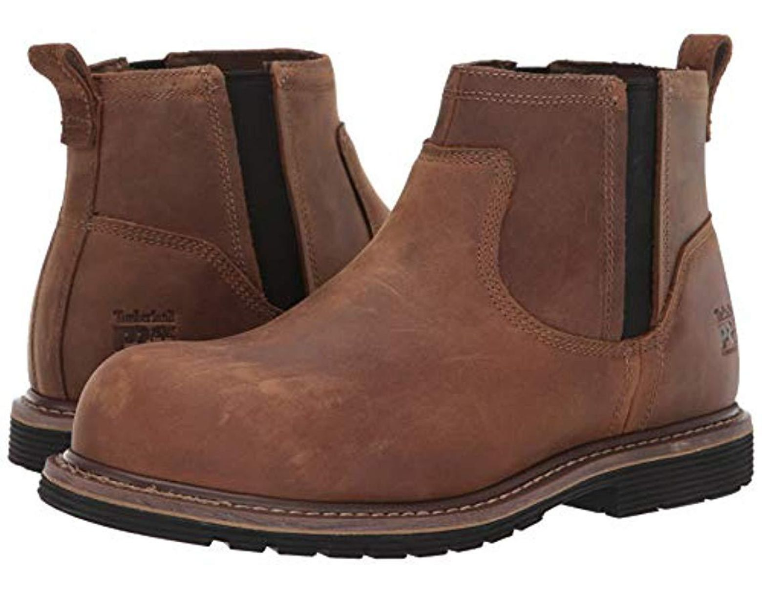 201f3d5dbeb Men's Brown Millworks Chelsea Composite Safety Toe