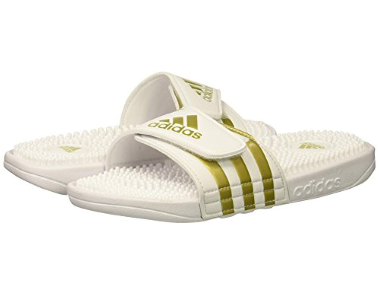 58662aa8a adidas Adissage Slides in White for Men - Lyst