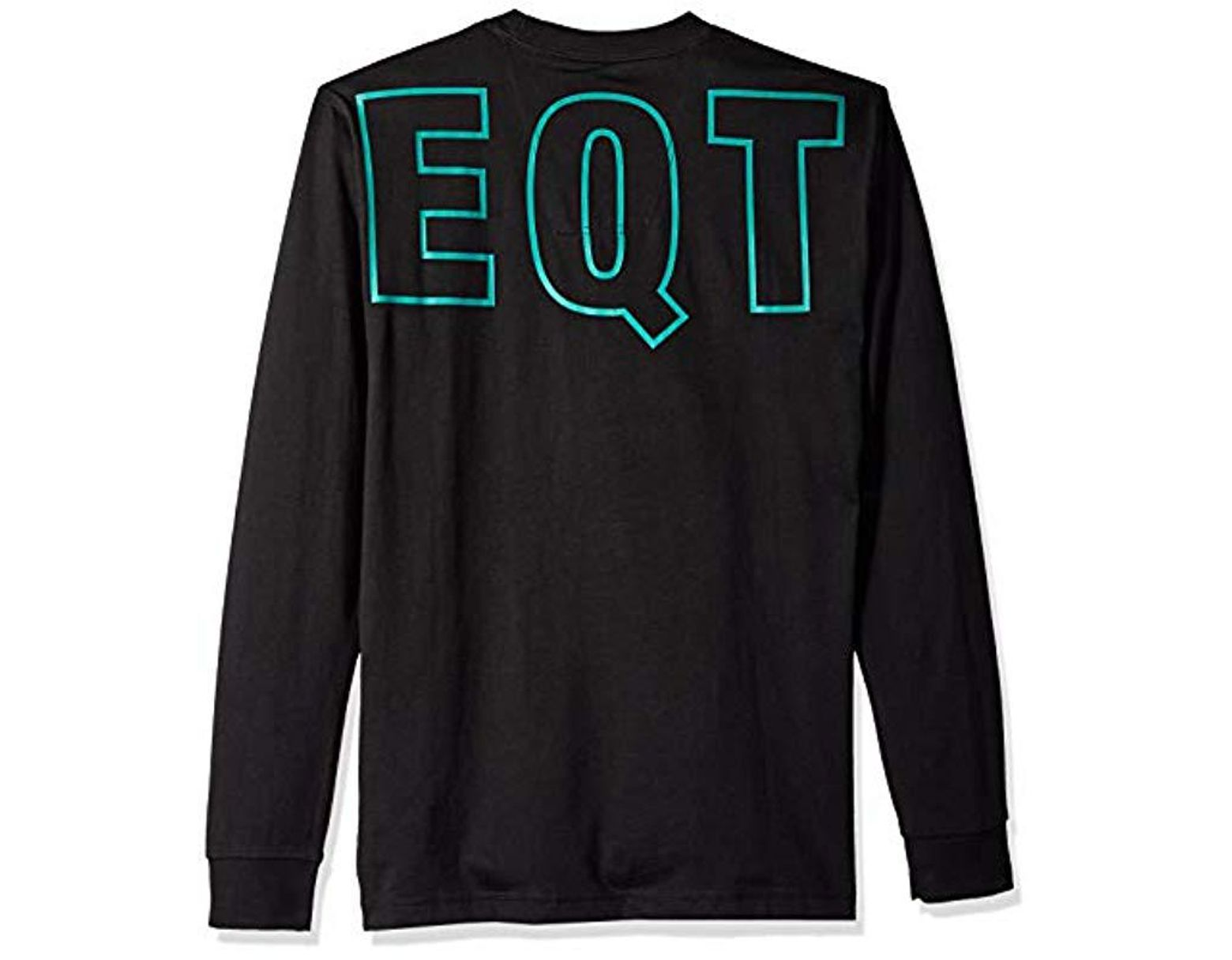 ad9c5af6ad3a0 adidas Originals Eqt Long Sleeve Graphic Tee in Black for Men - Save 29% -  Lyst