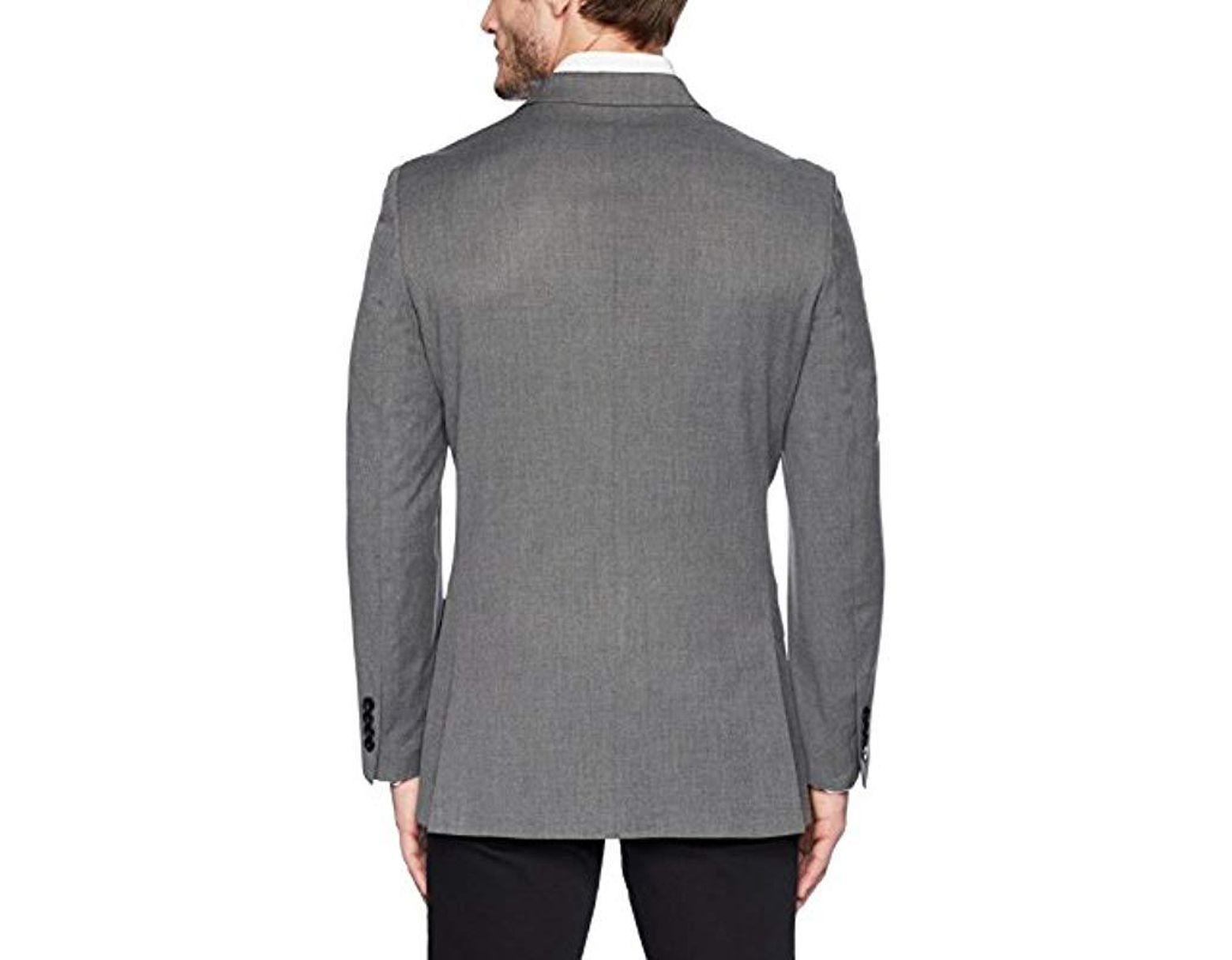 b3514d5631d4e Men's Gray Stretch Slim Fit Suit Separate (blazer And Pant)