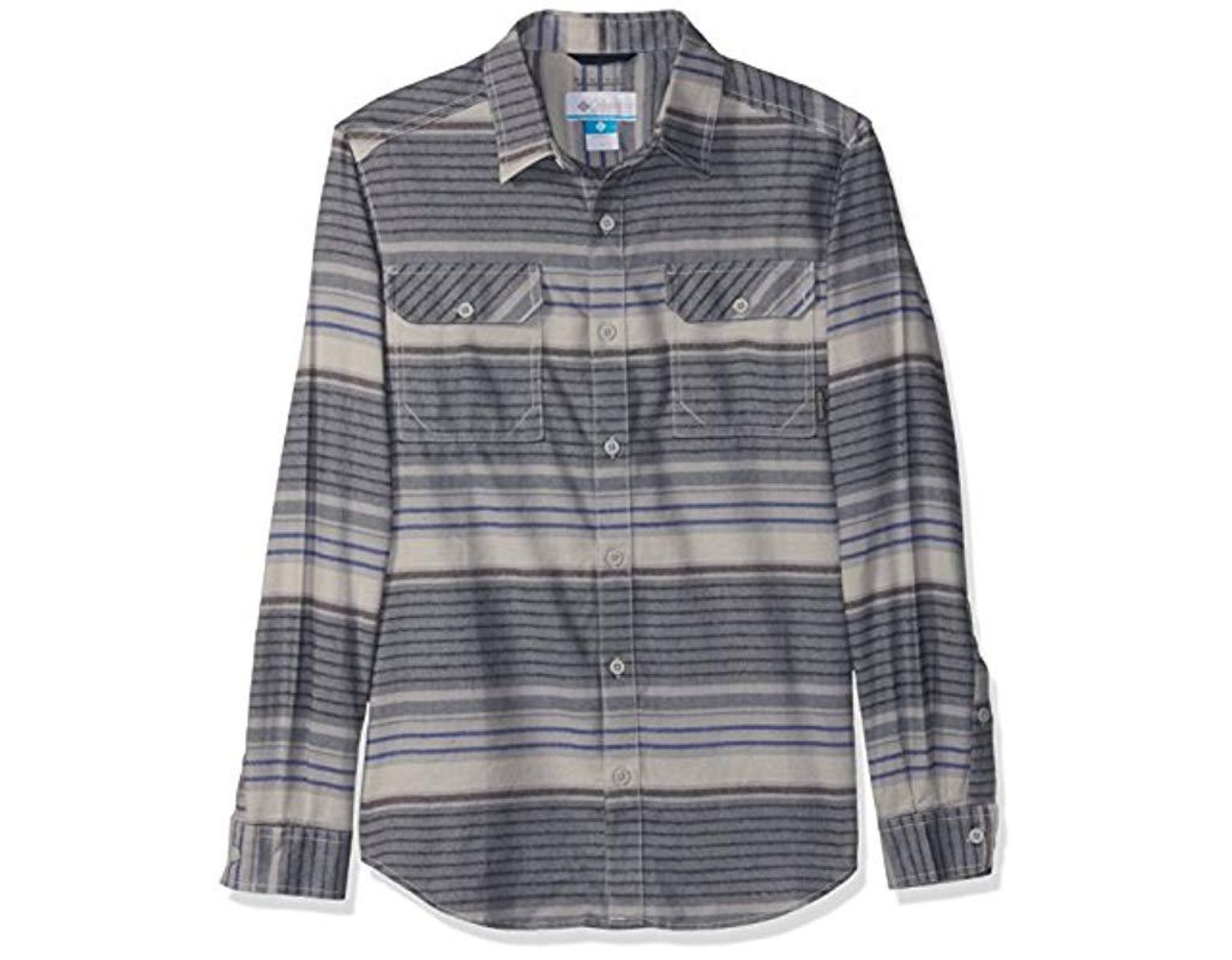 642d3be3eb6 Columbia Flare Gun Flannel Iii Long Sleeve Shirt in Gray for Men - Save 15%  - Lyst