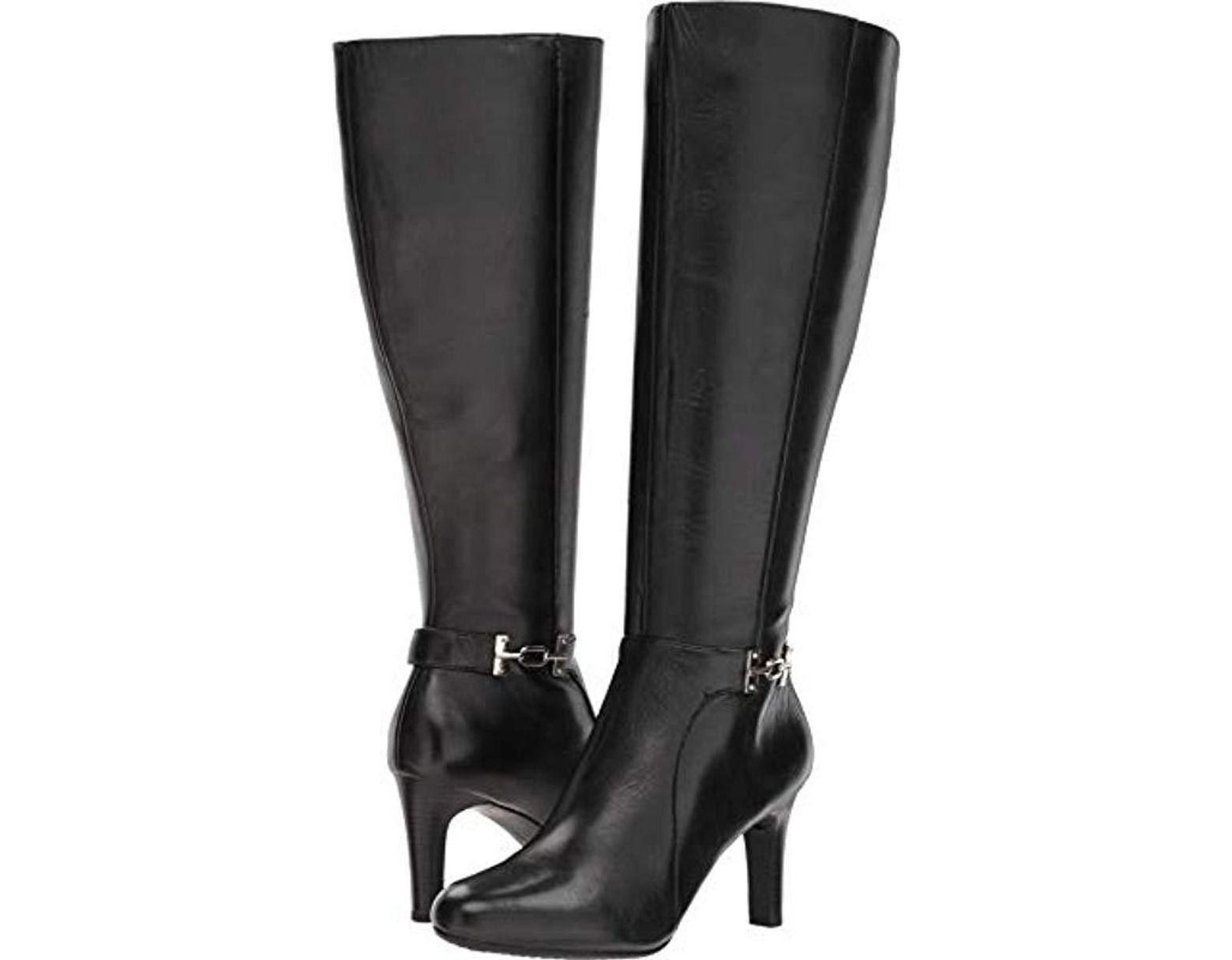 93e2713a29e Women's Black S Lamari Wide Calf Boot