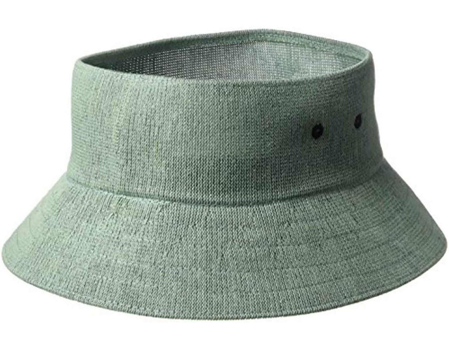 610212501 Men's Green Bamboo Cut Off Bucket Hat Visor