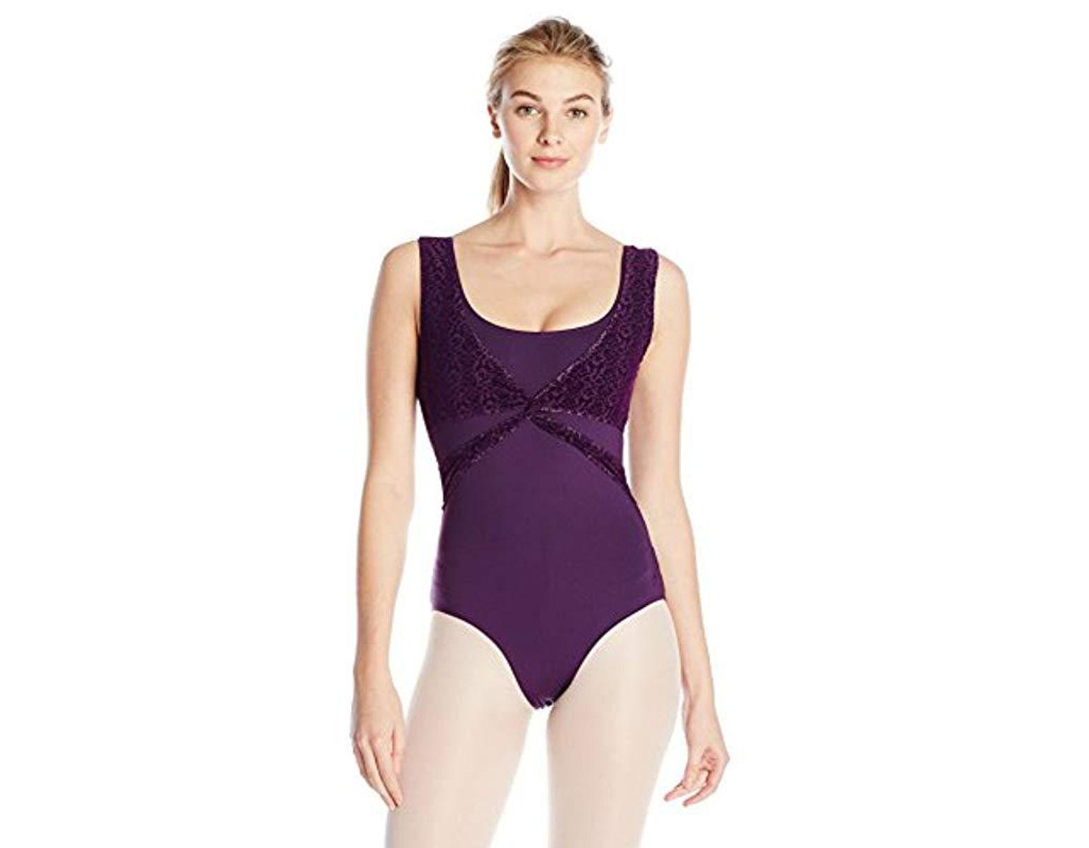 8f4c2821a9d89 Women's Purple Nycb Wrap Top Leotard