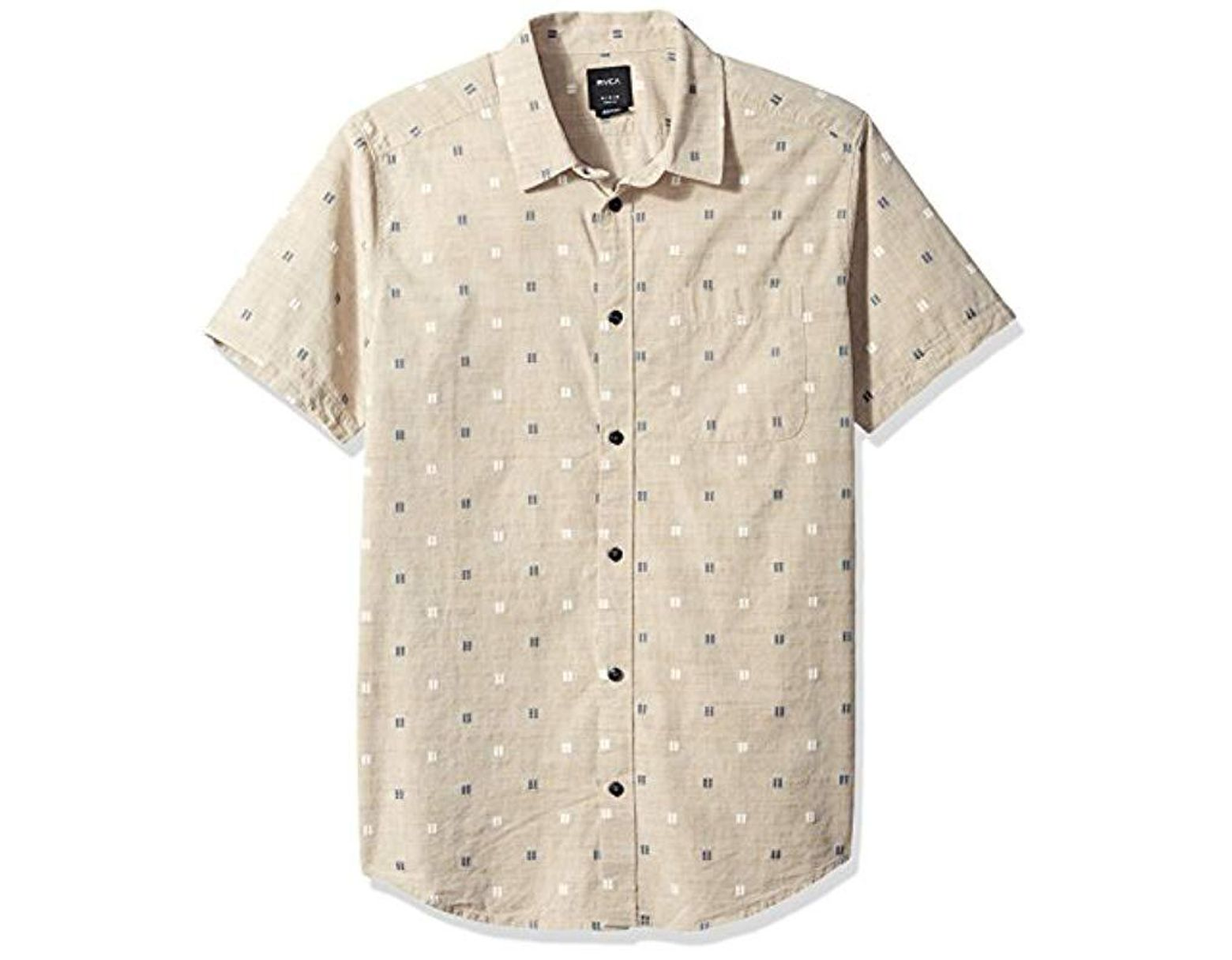 8363068a35 Men's Natural And Sons Short Sleeve Woven Button Up Shirt