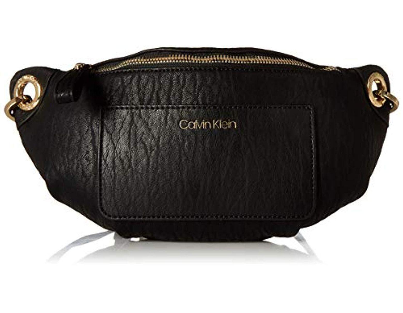 288fa1d460b Calvin Klein Sonoma Bubble Lamb Novelty Key Item Fanny Pack Belt Bag in  Black - Lyst