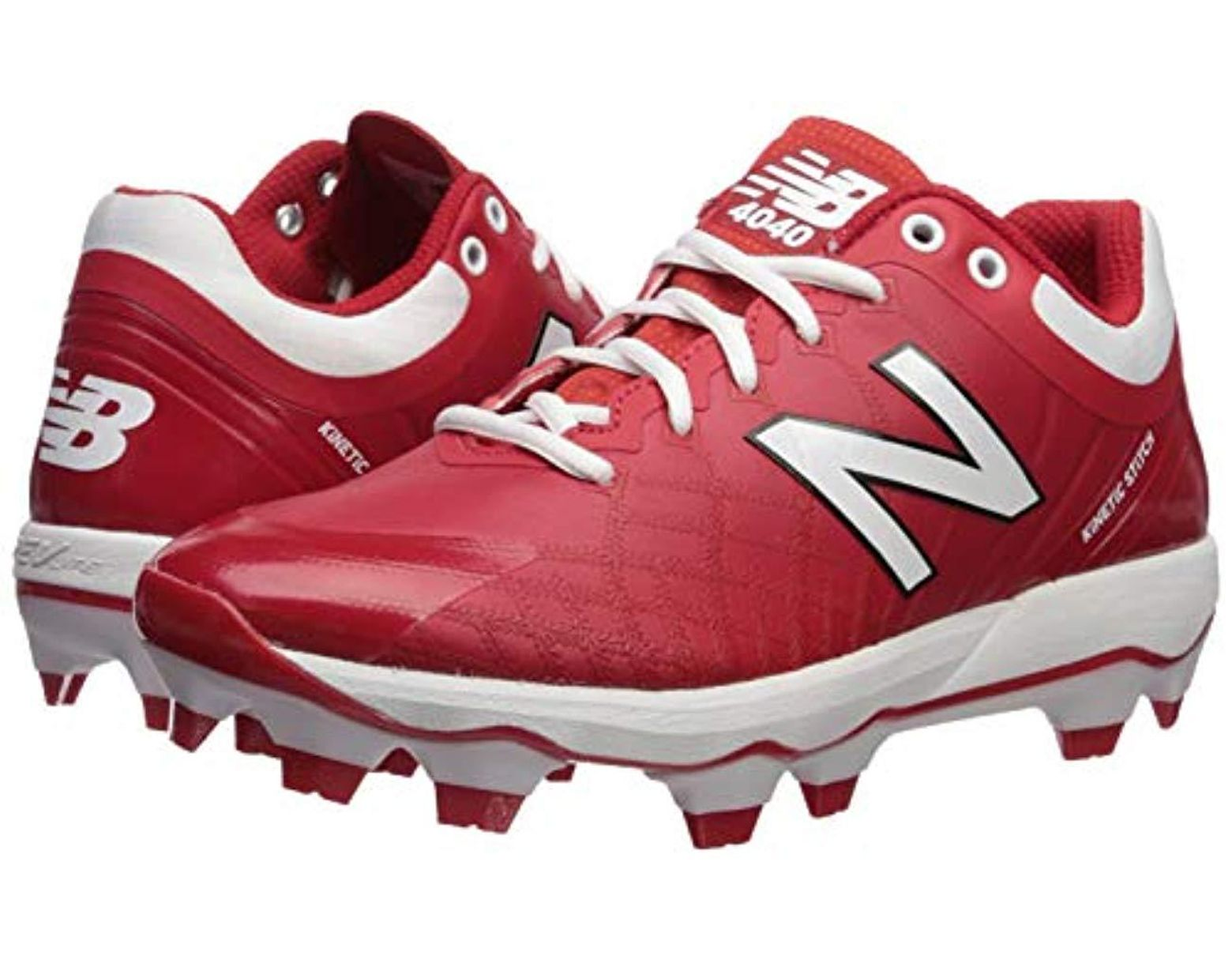 08610bb582 Men's Red 4040v5 S Tpu Molded Cleats