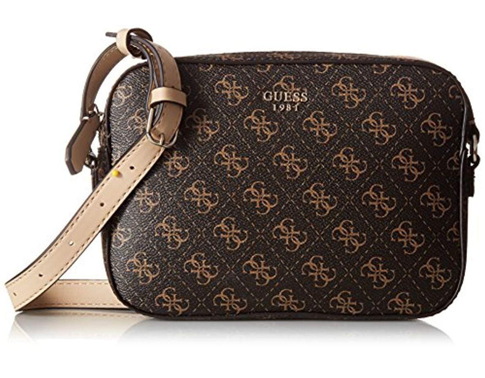 1daaa3a82d Guess Kamryn Q-logo Crossbody Top Zip in Brown - Save 17% - Lyst