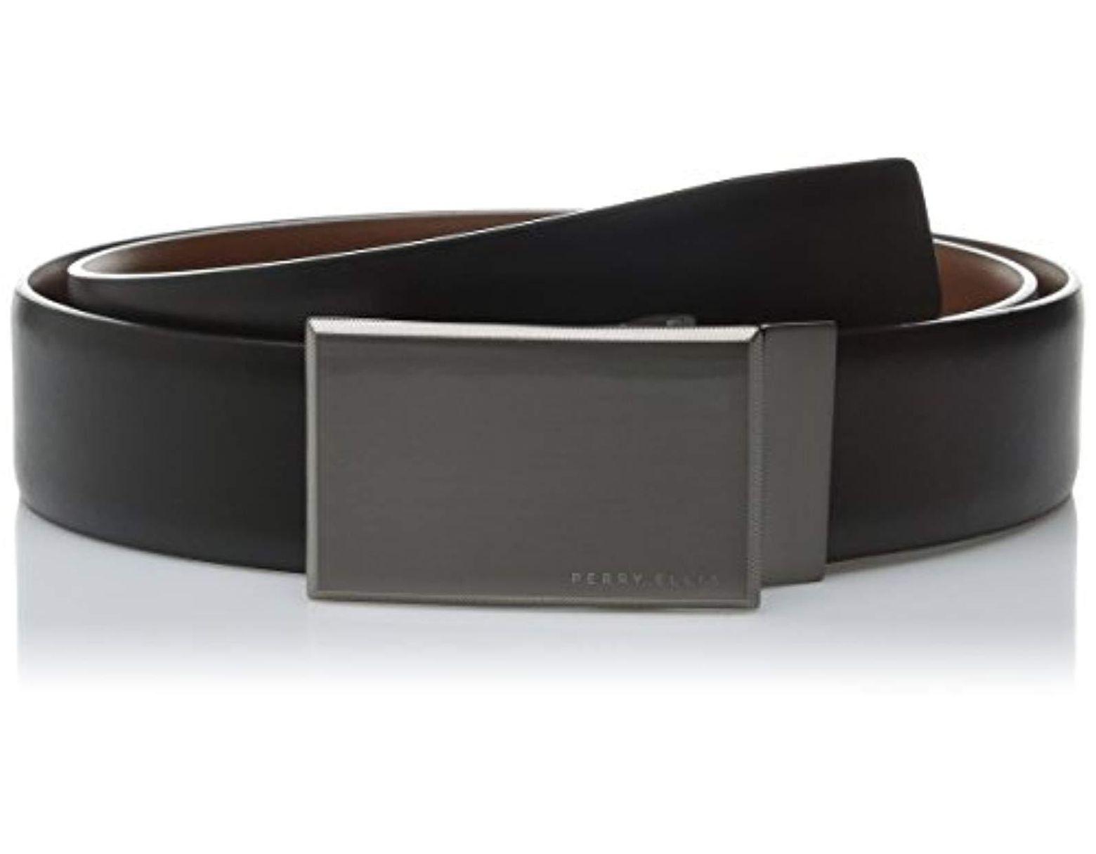 11b6adc1e7f1 Men's Black Portfolio Reversible Patterned Plaque Belt