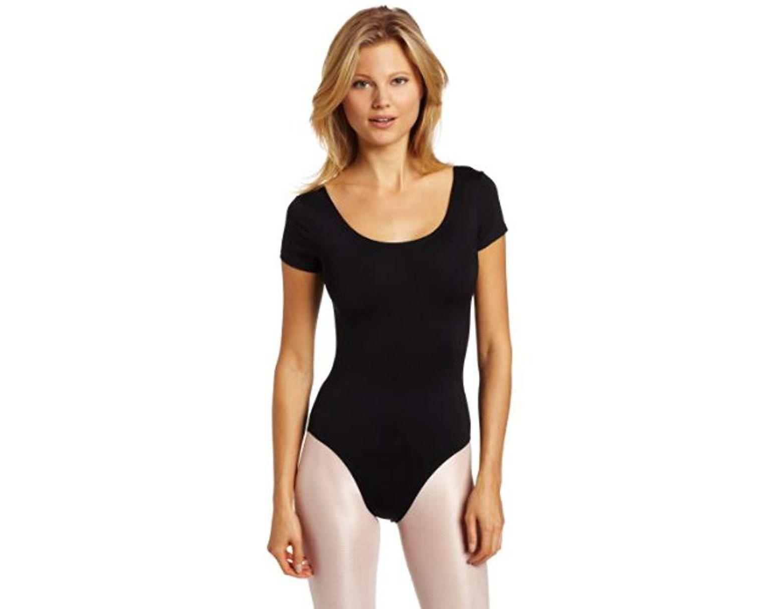 fd45baf15c5ea Women's Black Short-sleeve Leotard