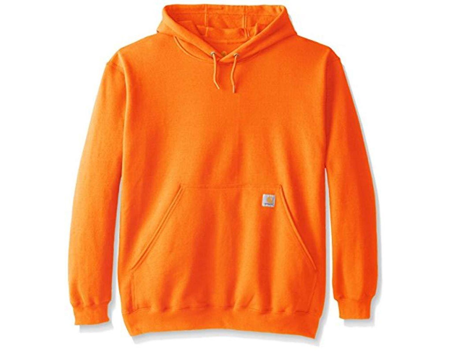 f6f433668 Men's Orange Big & Tall Midweight Hooded Sweatshirt