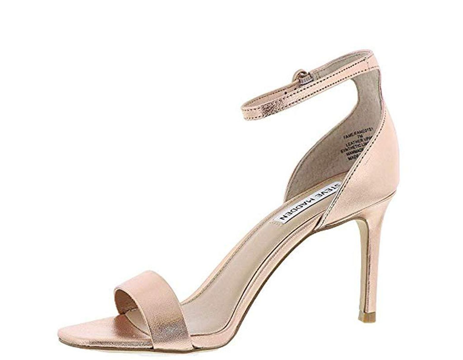 2bfc06becf6 Steve Madden S Fame Leather Open Toe Casual Ankle, Rose Gold, Size ...