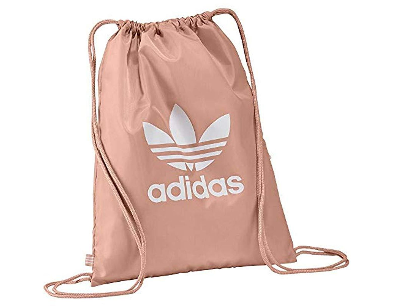 adidas Unisex Gymsack Trefoil Backpack in Pink - Lyst
