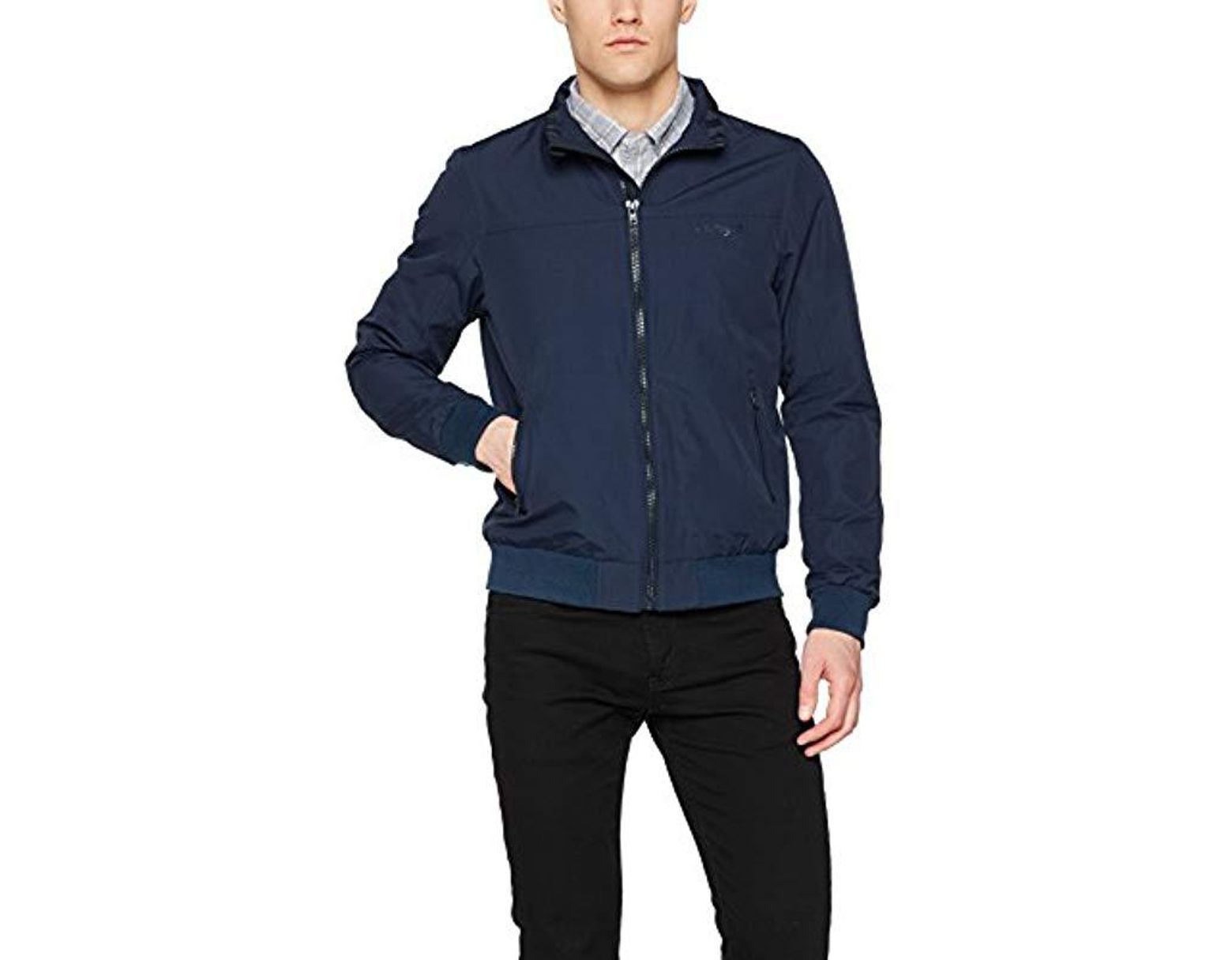 647cf0383 Wrangler Bob The Bomber Jacket in Blue for Men - Save 8% - Lyst