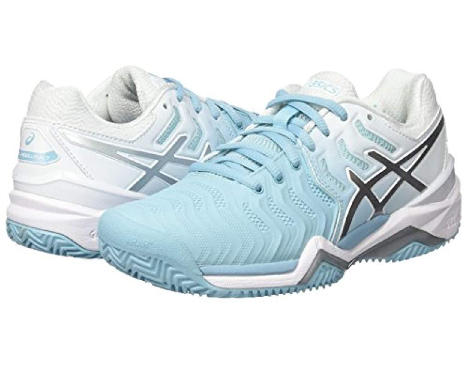 Women's Blue Gel resolution 7 Clay Tennis Shoes