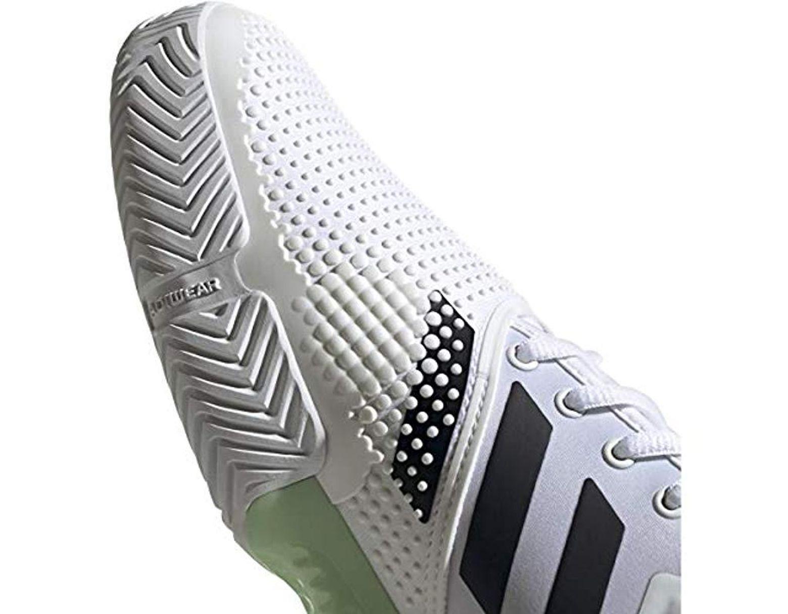 adidas SoleCourt Boost WhiteBlackGlow Green