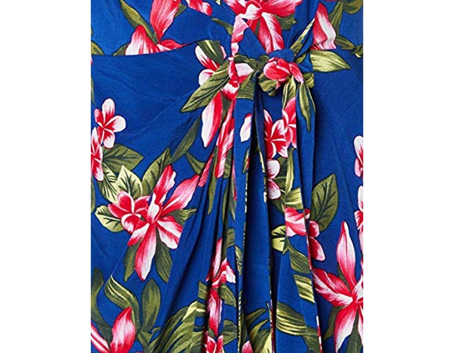 32d3cbe99352 Tommy Hilfiger Hallie Wrap Slip Dress Ns in Blue - Lyst