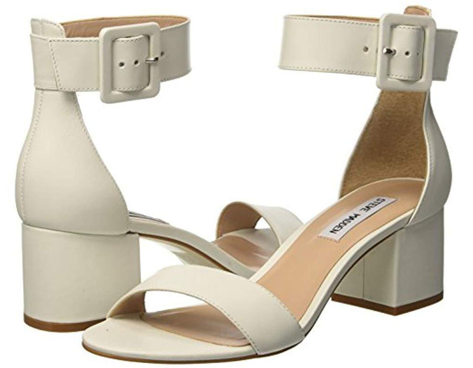 e04fbe1e4e311 Steve Madden Indigo Open Toe Sandals in White - Lyst