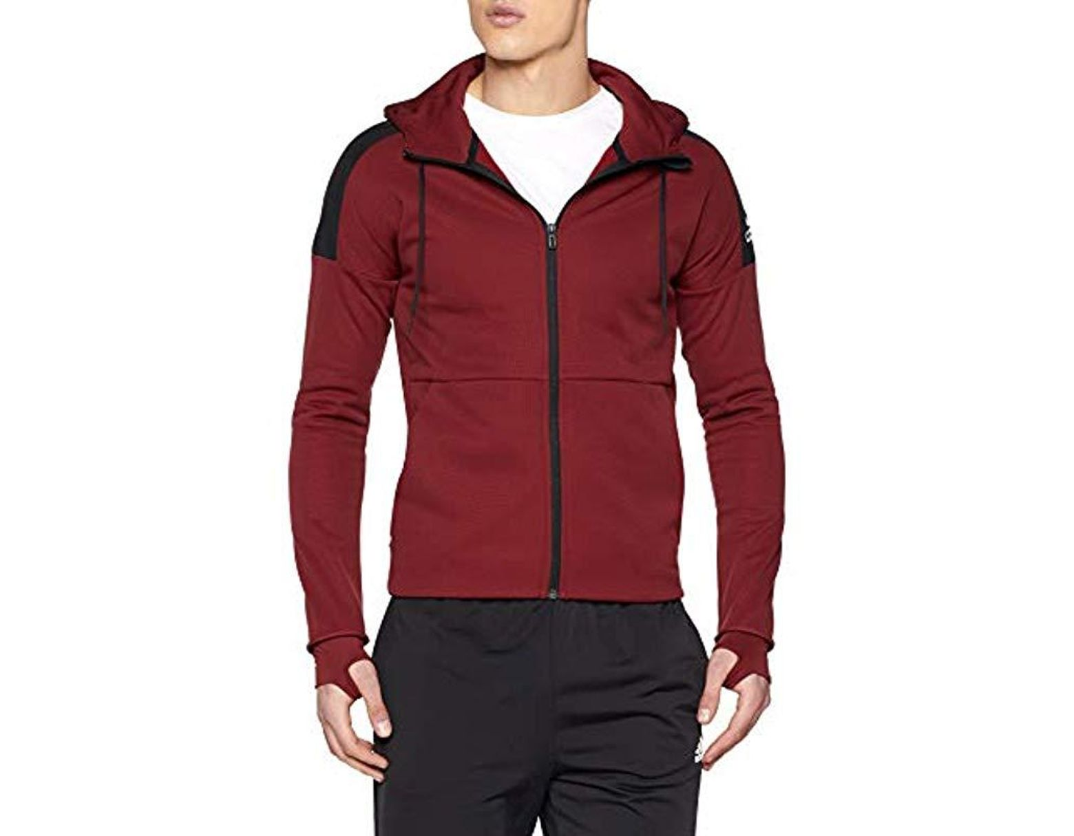 Hoodie Sports M Men's Red Sta Id Fz Ch nP8X0wOk