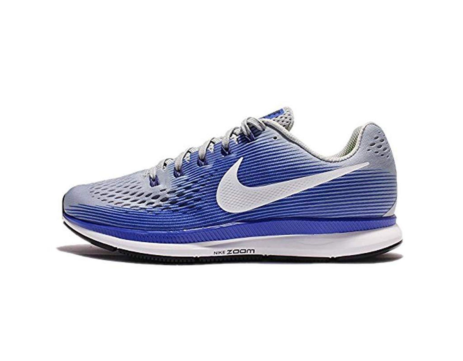 Tutor pozo Acera  Nike Air Zoom Pegasus 34 Running Shoes in Blue for Men - Save 73 ...