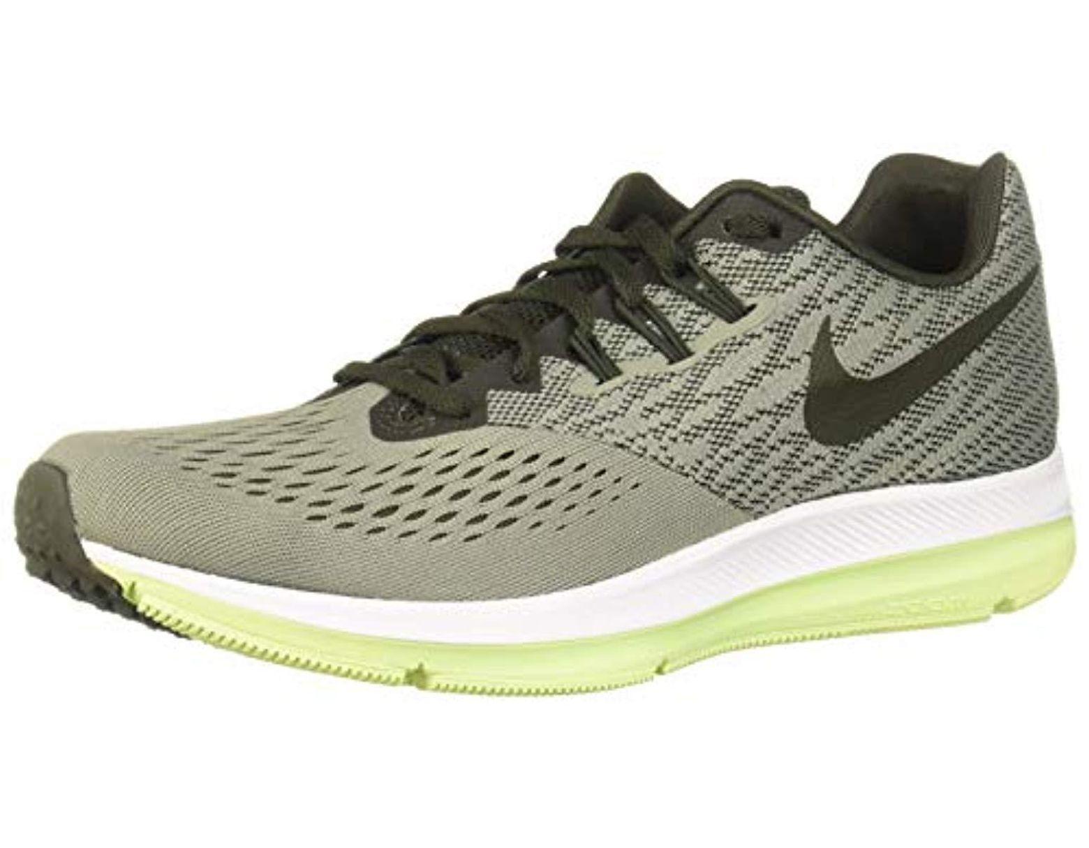 da8200eb03c8b Men's Green Zoom Winflo 4 Running Shoes