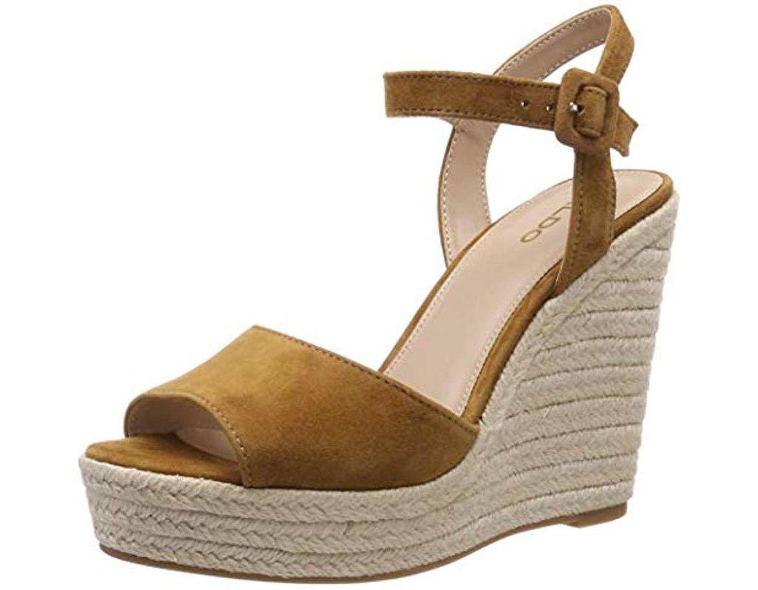8e61f282a ALDO Ybelani Ankle Strap Sandals in Brown - Save 58% - Lyst