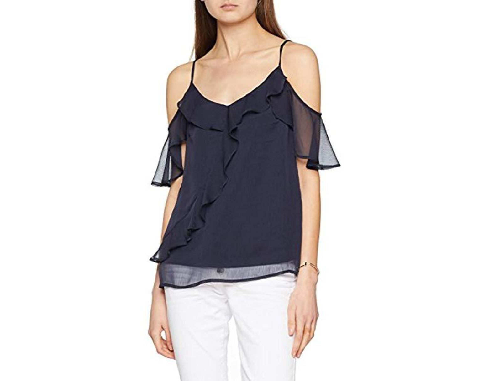 Women's Blue Vmkenzie Cold Shoulder Top Vest
