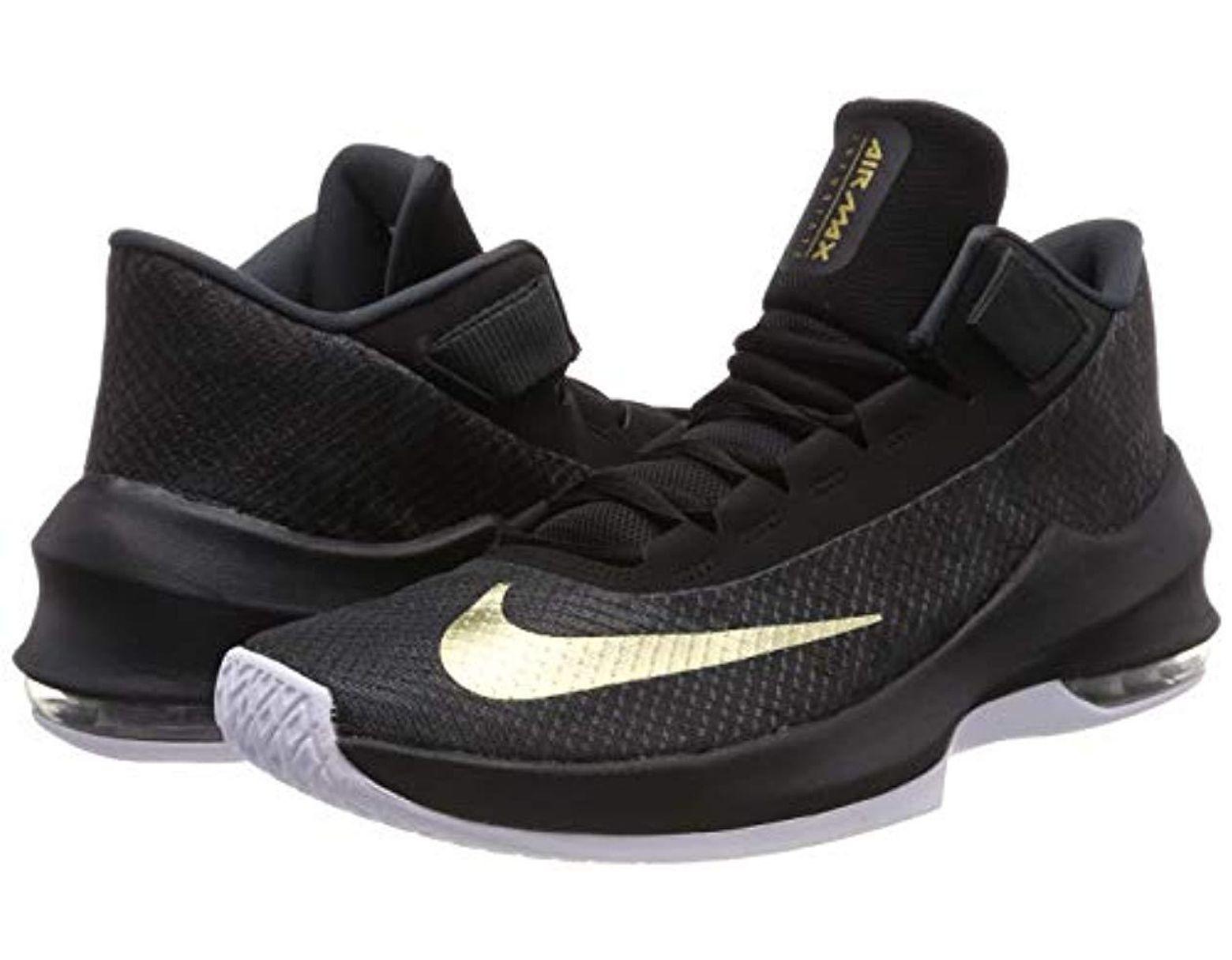 31a4dbd515744 Men's Black Air Max Infuriate 2 Mid Basketball Shoes