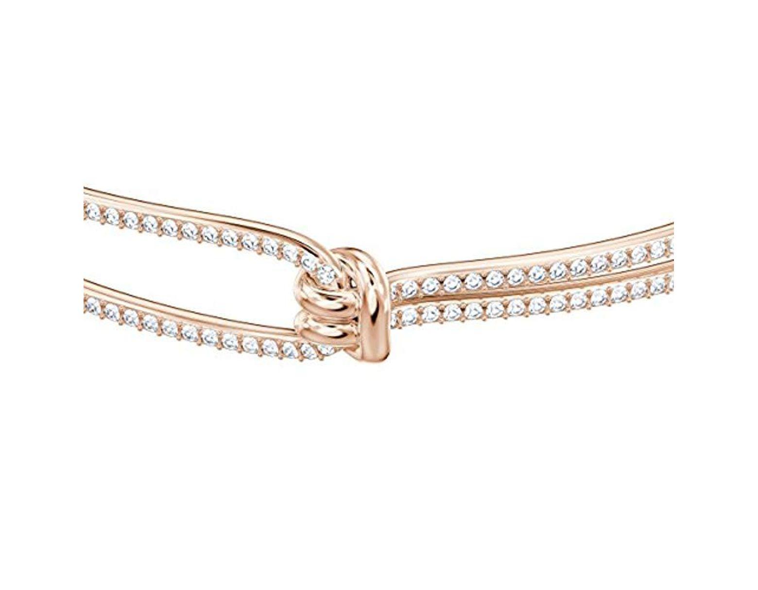 d653f5bb8f01e0 Brazalete Lifelong, Blanco, baño de Oro Rosa Swarovski de color Blanco -  Lyst
